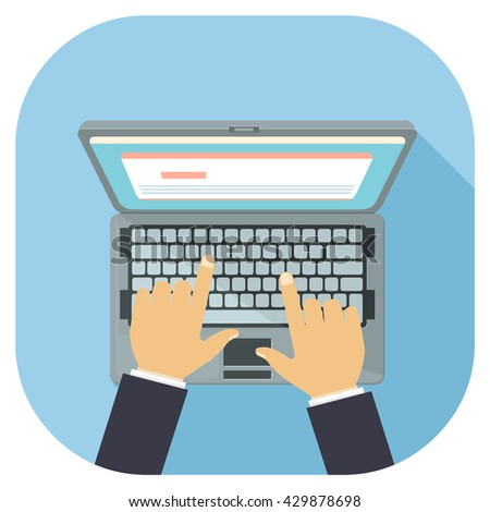 Laptop Personal Computer Displaying Website Work Stock ...