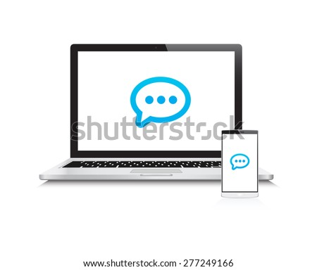 Laptop & Phone Message Icon
