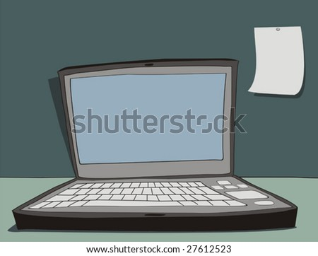Laptop. Vector.