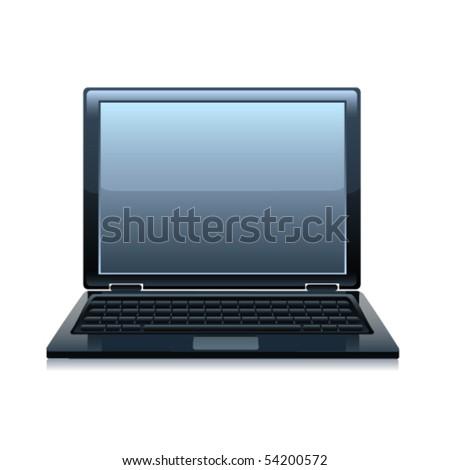 Laptop. Vector - stock vector
