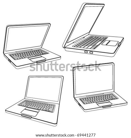laptop vector illustration - stock vector