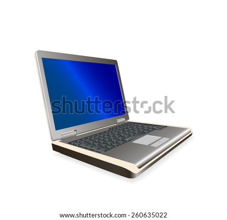 laptop - vector illustration, Figure in EPS format - stock vector