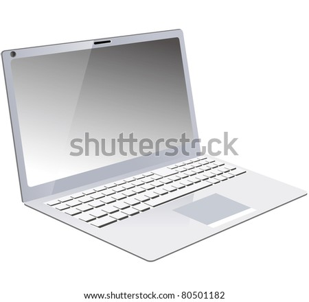 Laptop vector PC - stock vector