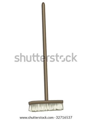 Large Broom - stock vector