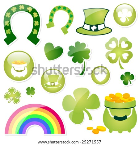 Large Collection of St. Patricks Day Imagery - stock vector