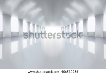 Large factory floor. Vector illustration. - stock vector