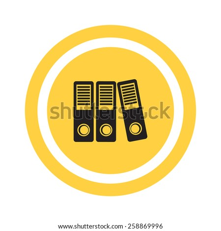 large folders with documents, web icon. vector design - stock vector