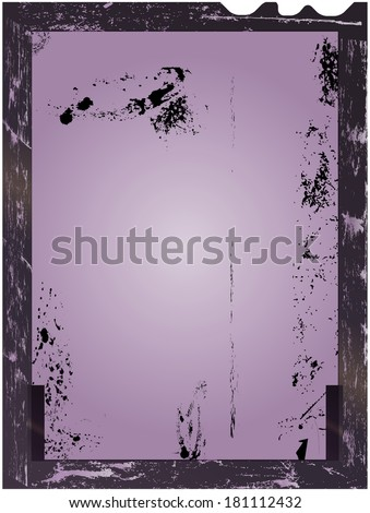 large format film sheet negative, picture frame, light incidence, free copy space, isolated,vector illustration,grungy style - stock vector
