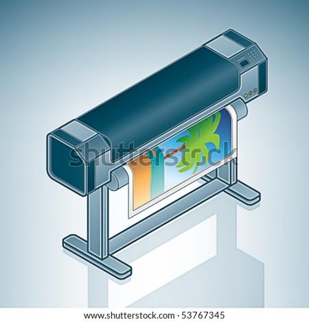 Large format Photo Printer / Plotter - stock vector