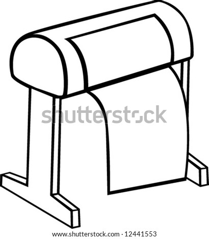 large format printer - stock vector