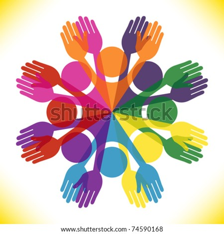 Large group of colorful people. - stock vector