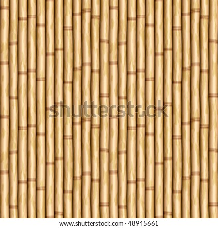large image of bamboo poles as wall or curtain - stock vector