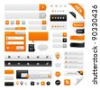 Large set of icons, buttons and menus for websites - stock photo