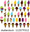 Large Vector Collection of Ice Cream - stock vector