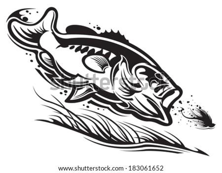 Largemouth Bass - stock vector