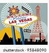 Las Vegas - stock vector