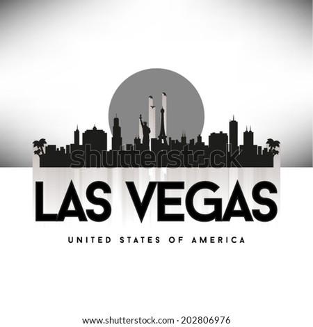 Las Vegas United States of America Cities/States skyline, vector illustration. - stock vector