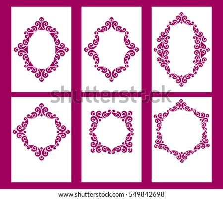 Laser Cut Cards Set Wedding Invitation Stock Photo (Photo, Vector ...