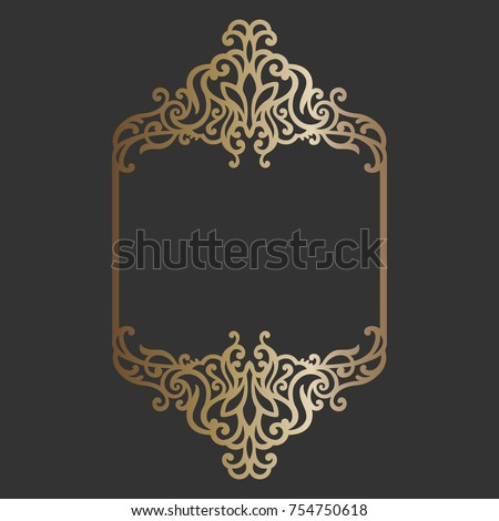 Laser cut panel design wedding invitation stock vector 754750618 laser cut panel design wedding invitation card with ornamental border stopboris Images