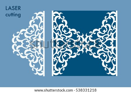 Laser cut panel swirls laser cutting stock vector 538331218 laser cut panel with swirls laser cutting template for diy greeting cards envelopes stopboris Images