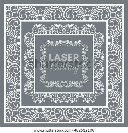 Laser Cut Vector Frame Collection Set Stock Vector 482512108 ...