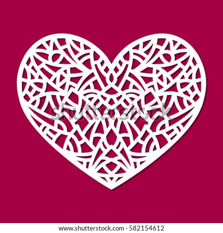 Laser cut vector card temlate rose stock vector 481959019 shutterstock for Exterior shutters with heart cutouts