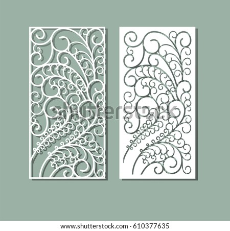laser cut vector panel cutting paper stock vector royalty free