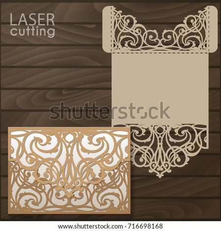 Laser cut wedding invitation card template stock photo photo laser cut wedding invitation card template vector wedding invitation or greeting card with abstract ornament stopboris Gallery