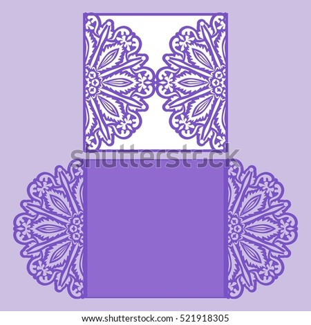 Laser cut wedding invitation template may stock vector 521918305 laser cut wedding invitation template may be used for cutting machines cutout paper wedding stopboris Images