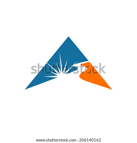 Laser cutting sign Branding Identity Corporate vector logo design template Isolated on a white background - stock vector