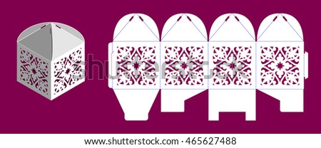 laser cutting vector template wedding bonbonniere stock vector 465627488 shutterstock. Black Bedroom Furniture Sets. Home Design Ideas