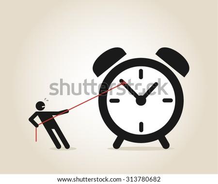 Late overdue deadline vector concept - stock vector