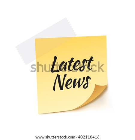 Latest News Stick Note Vector Illustration