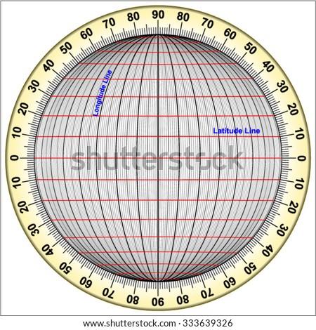 Latitude and Longitude - stock vector