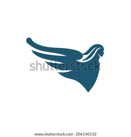 Latrine figure on the bow of ship Branding Identity Corporate vector logo design template Isolated on a white background - stock vector