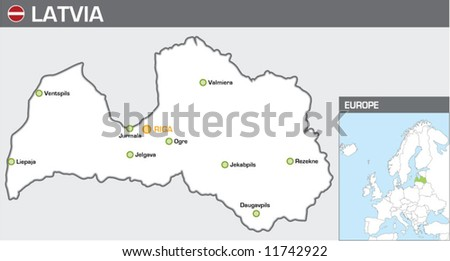 Latvia - stock vector
