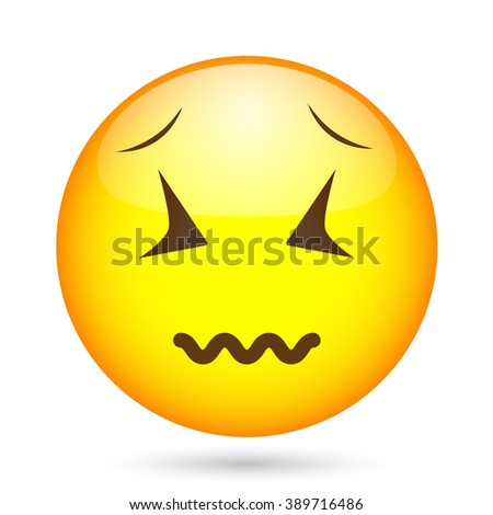 Laughing emoticon. Emoticon illustration. Emoticon funny tongue. 3D emoticon - stock vector