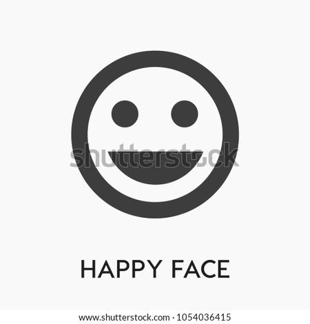 Laughingemotion Icon Funface Vector Humorsmilesmileypositive Symbol