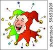 laughing Joker - stock vector