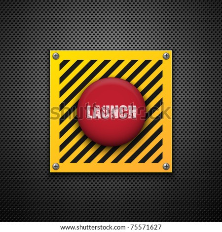 Launch button. Vector background. Eps10 - stock vector