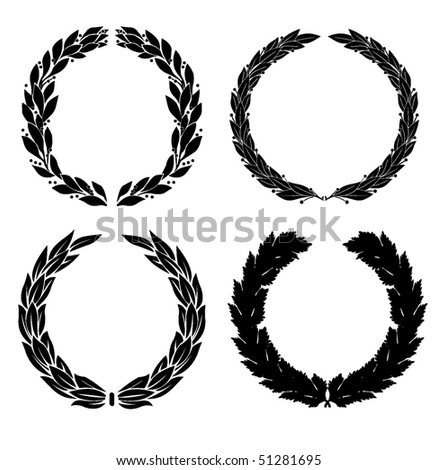 laurel - stock vector