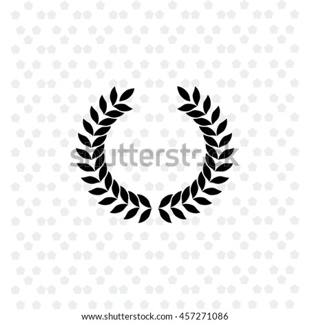 Laurel wreath icon vector. Simple illustration.