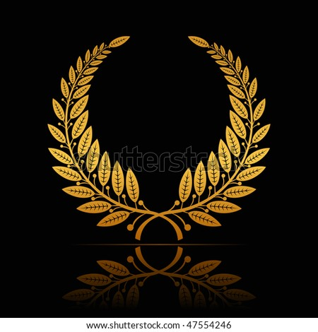Laurel Wreath, vector - stock vector
