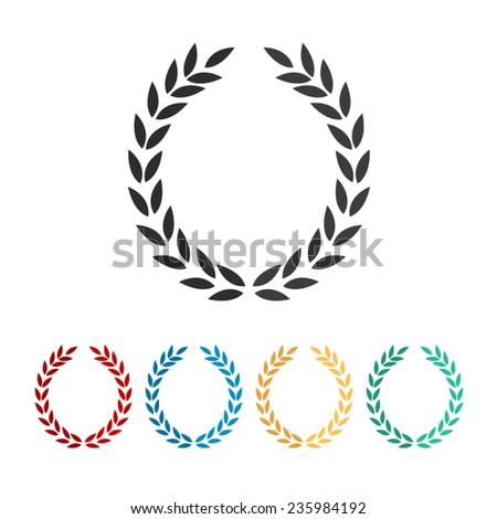 Laurel Wreath - vector icon, flat design - stock vector