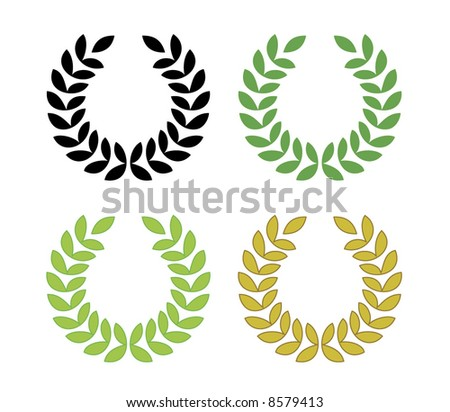 laurel wreath vector - suggested colors