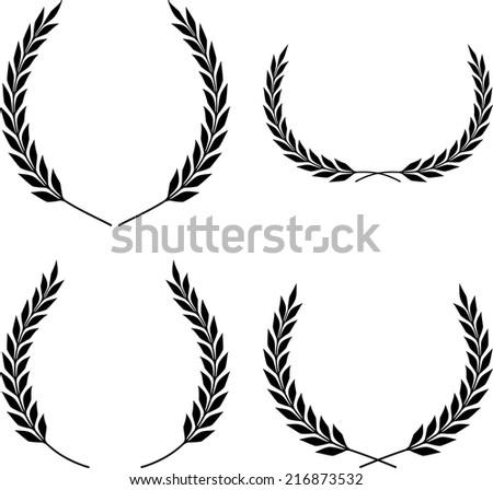 Laurel Wreaths Isolated - stock vector