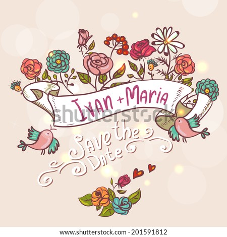 Laurels, Ribbons, Wreaths Vector, Floral Design, Frame, invitation - stock vector