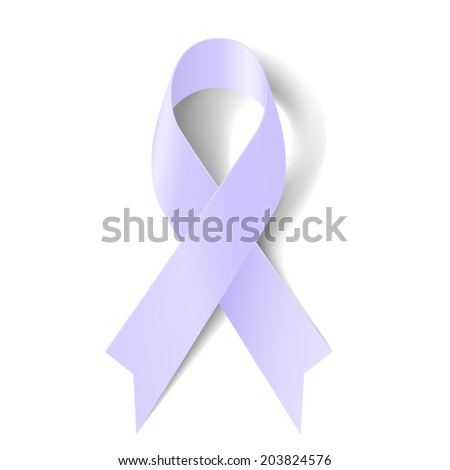 Lavender ribbon as symbol of epilepsy, craniosynostosis and cancer awareness