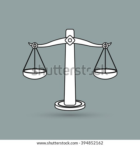 Law and Justice icon design