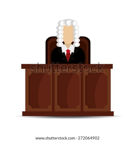 Law design over white background, vector illustration.
